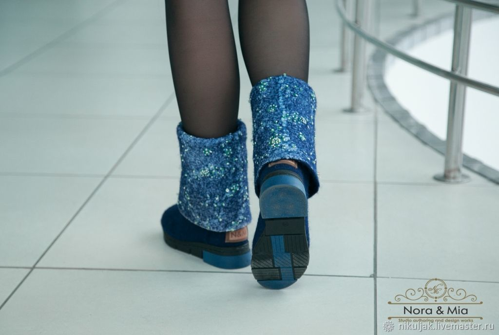 Boots, felted Winter patterns -2, High Boots, Dnepropetrovsk,  Фото №1