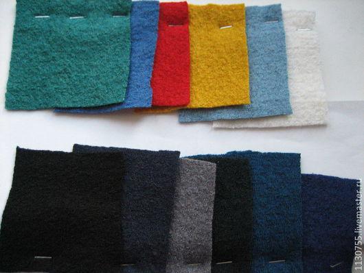 Шитье ручной работы. Ярмарка Мастеров - ручная работа. Купить ткань лоден(вареная шерсть ) Италия 7 видов. Handmade.