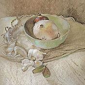 Картины и панно ручной работы. Ярмарка Мастеров - ручная работа картина пастелью Кухонный натюрморт (шебби шик, оливковый, бежевый). Handmade.