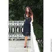 Одежда handmade. Livemaster - original item Crochet dress, dress of fine wool, light and warm, fashionable dress,. Handmade.