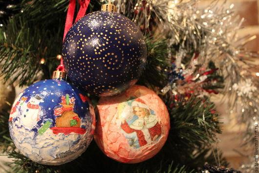 Новый год 2017 ручной работы. Ярмарка Мастеров - ручная работа. Купить Новогодние подарки. Handmade. Новый Год, Стеклянные шары