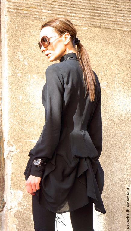 Блузка Прозрачная Черная Купить