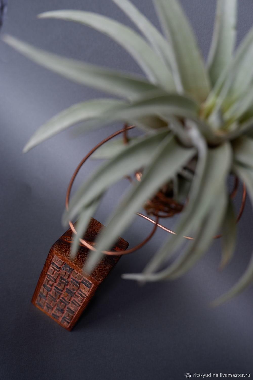 Интерьерная ваза с живым растением, Статуэтки, Москва,  Фото №1