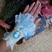 """Украшения ручной работы. Ярмарка Мастеров - ручная работа Браслет """" Blue pastel """". Handmade."""