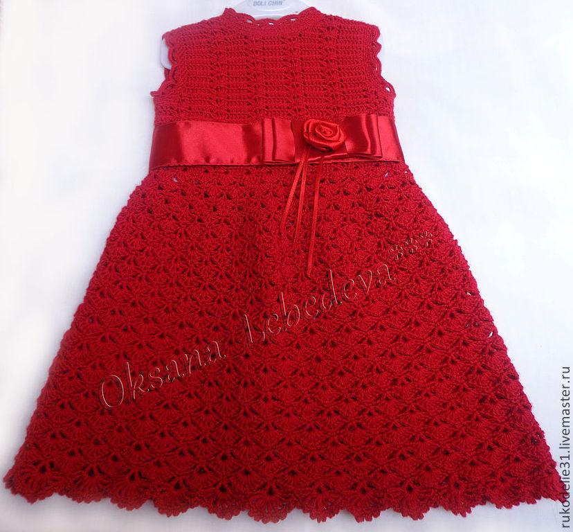 Детское платье крючком на 2-3 года