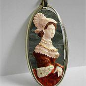 "Украшения handmade. Livemaster - original item Сameo ""Portrait of a young woman"". Handmade."