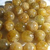 Материалы для творчества handmade. Livemaster - original item Rutilated quartz beads 8 mm. Handmade.