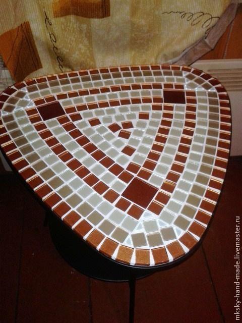 """Авторский кофейный мозаичный столик """"Трио"""" своими медовыми оттенками добавит тепла и уюта Вашему интерьеру. \r\nMKsky"""