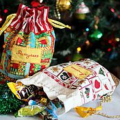 Подарки к праздникам ручной работы. Ярмарка Мастеров - ручная работа Мешок для подарка. Мешок для конфет.. Handmade.