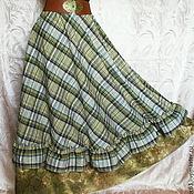 Одежда ручной работы. Ярмарка Мастеров - ручная работа Юбка-бохо длинная р.42-48 из хлопка,на резинке. Handmade.
