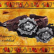"""Украшения ручной работы. Ярмарка Мастеров - ручная работа Кожаный браслет """"Львиное сердце"""". Handmade."""