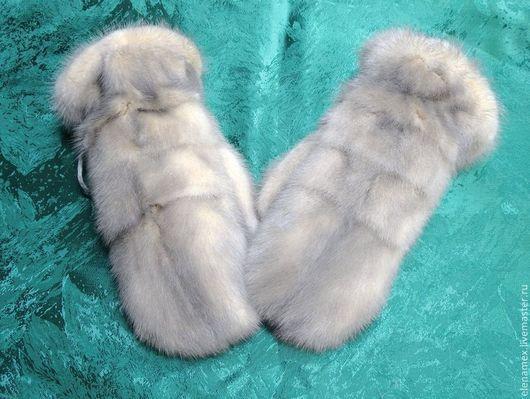Варежки, митенки, перчатки ручной работы. Ярмарка Мастеров - ручная работа. Купить Варежки из меха норки. Handmade.