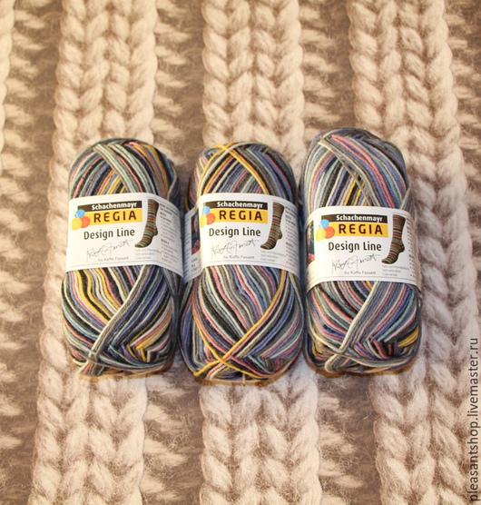 Вязание ручной работы. Ярмарка Мастеров - ручная работа. Купить Пряжа REGIA. Handmade. Разноцветный, пряжа для ручного вязания