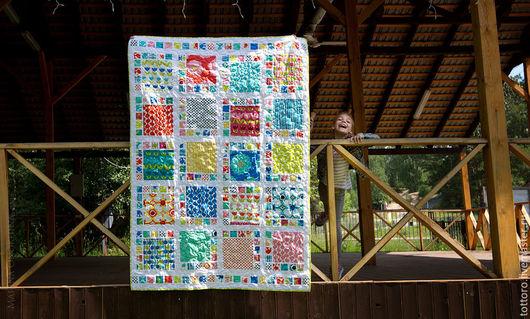 Текстиль, ковры ручной работы. Ярмарка Мастеров - ручная работа. Купить Прыгнуть в лето. Handmade. Комбинированный, квилт, интерьер