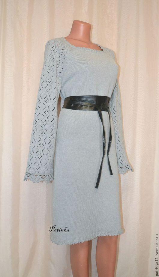Платья ручной работы. Ярмарка Мастеров - ручная работа. Купить Платье. Handmade. Серый, вязание на машине
