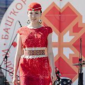 """Одежда ручной работы. Ярмарка Мастеров - ручная работа Валяное красное платье"""" Этно"""". Handmade."""