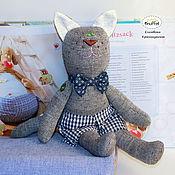 """Куклы и игрушки ручной работы. Ярмарка Мастеров - ручная работа Кот игрушка текстильная в ретро стиле """"Эко кот"""". Handmade."""