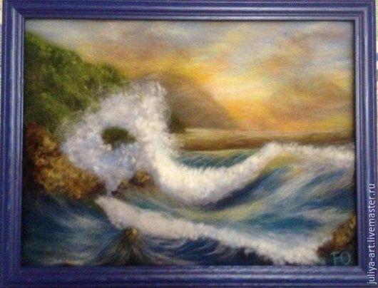 Пейзаж ручной работы. Ярмарка Мастеров - ручная работа. Купить Море, море мир бездонный. Handmade. Синий, морская волна