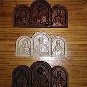 Иконы ручной работы. Ярмарка Мастеров - ручная работа Иконы: Триптих. Handmade.