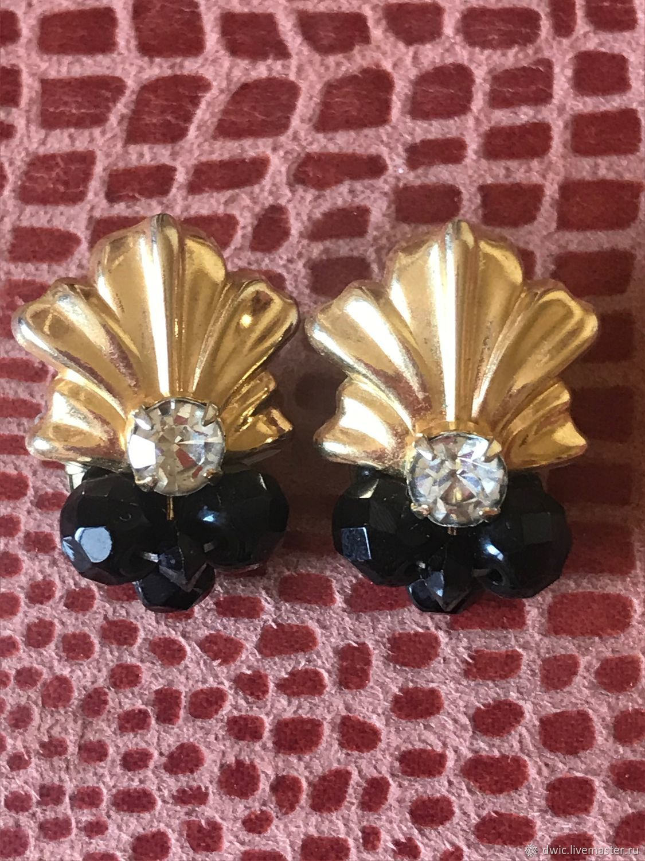 Marchesa clips, Czechoslovakia, Vintage earrings, Arnhem,  Фото №1