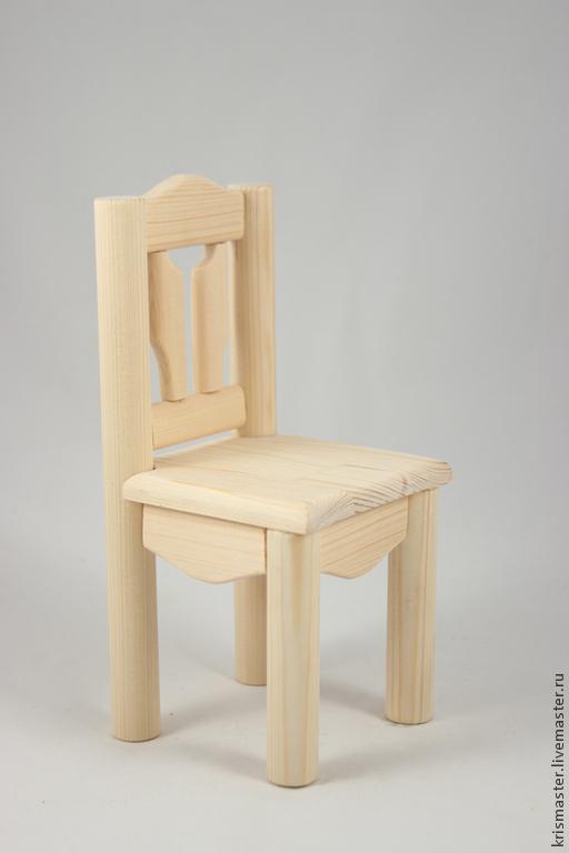 Кукольный дом ручной работы. Ярмарка Мастеров - ручная работа. Купить Кукольный стул. Handmade. Стул, Дерево натуральное