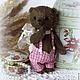 Мишки Тедди ручной работы. Мишка тедди (весенний). Волшебные игрушки Мэри Поппинс (AnitaG). Ярмарка Мастеров. Подарок девушке