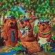 Кукольный театр ручной работы. Ярмарка Мастеров - ручная работа. Купить сказка Три медведя. Handmade. Валяние, войлок, театр