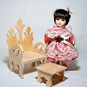 Куклы и игрушки ручной работы. Ярмарка Мастеров - ручная работа Трон для куклы (стул, кресло). Handmade.