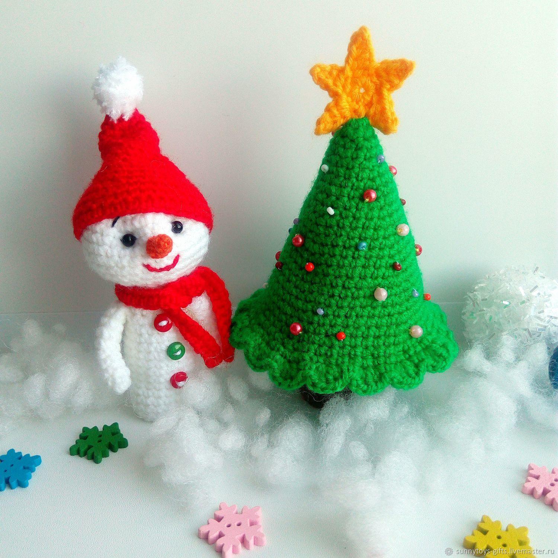 Пальчиковые игрушки Новогодние игрушки Ёлочка Снеговик Новый год, Кукольный театр, Березовский,  Фото №1