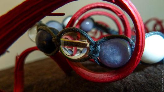 Браслеты ручной работы. Ярмарка Мастеров - ручная работа. Купить Шамбала браслет из натуральных камней - энергический браслет / gvn30. Handmade.