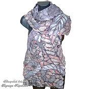 Аксессуары handmade. Livemaster - original item Felted scarf on silk