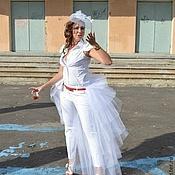 Одежда ручной работы. Ярмарка Мастеров - ручная работа Шлейф из фатина sensation white белый пышный Специальная Цена. Handmade.