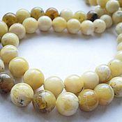 Материалы для творчества handmade. Livemaster - original item Yellow opal beads 12mm. Handmade.