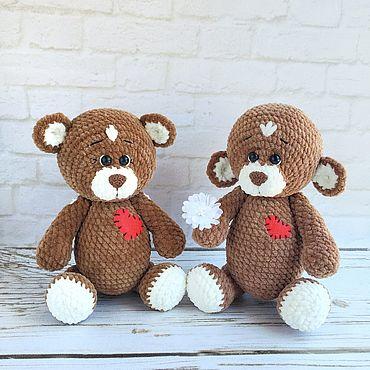 Куклы и игрушки ручной работы. Ярмарка Мастеров - ручная работа Мастер-класс: Мишка плюшевый крючком медведь игрушка вязаный. Handmade.
