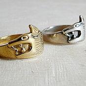 Украшения ручной работы. Ярмарка Мастеров - ручная работа Серебряное кольцо с волком / кольцо серебро 925 пробы. Handmade.
