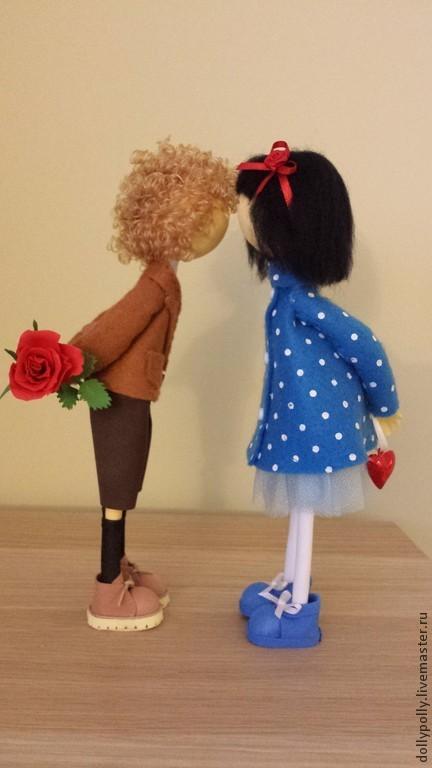 Коллекционные куклы ручной работы. Ярмарка Мастеров - ручная работа. Купить Я тебя люблю. Handmade. Синий, коллекционная кукла