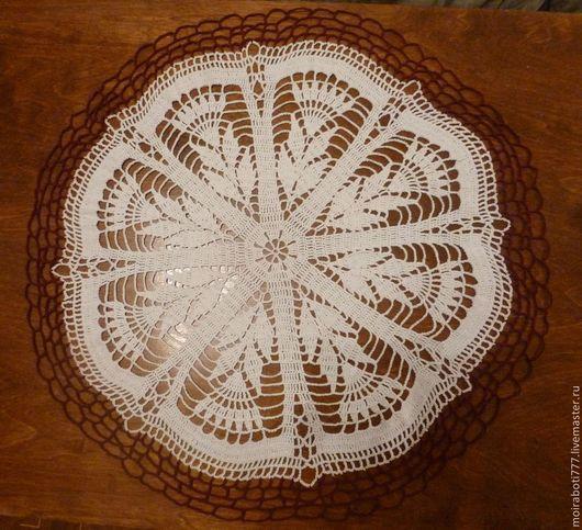 Текстиль, ковры ручной работы. Ярмарка Мастеров - ручная работа. Купить Салфетка двухцветная. Handmade. Белый, салфетка ажурная, ажурная