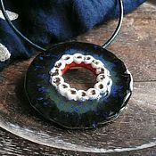 """Украшения ручной работы. Ярмарка Мастеров - ручная работа """"Африка blue"""", подвеска, керамика ручной работы. Handmade."""