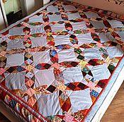 """Для дома и интерьера ручной работы. Ярмарка Мастеров - ручная работа Лоскутное одеяло """"Путь""""  №407. Handmade."""