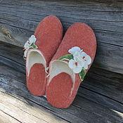 Обувь ручной работы handmade. Livemaster - original item Felt Slippers women`s felted Merino wool with prevention. Handmade.