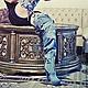 """Обувь ручной работы. Ярмарка Мастеров - ручная работа. Купить Ботфорты-трансформеры """"Львица"""" джинсовые на платформе. Handmade. Синий, джинса"""
