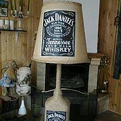 Для дома и интерьера ручной работы. Ярмарка Мастеров - ручная работа Лампа напольная из бутылки. Handmade.