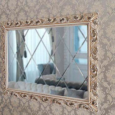 Для дома и интерьера ручной работы. Ярмарка Мастеров - ручная работа Настенное зеркало в раме слоновая кость с бронзой.. Handmade.