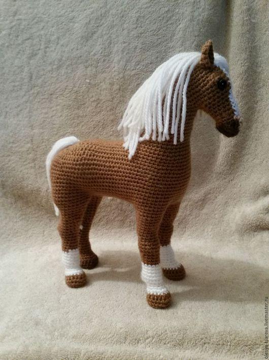 Игрушки животные, ручной работы. Ярмарка Мастеров - ручная работа. Купить Лошадка вязаная. Handmade. Коричневый, лошадь сувенир