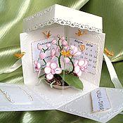 Открытки ручной работы. Ярмарка Мастеров - ручная работа Мэджик бокс с орхидеями. Handmade.