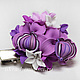 Брошь зажим с сиреневыми орхидеями и маленькими цветочками. Цена 900р\r\nМожет крепиться на булавку или зажим крокодильчик