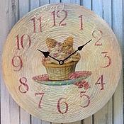 """Для дома и интерьера ручной работы. Ярмарка Мастеров - ручная работа Часы """"Десерт"""". Handmade."""