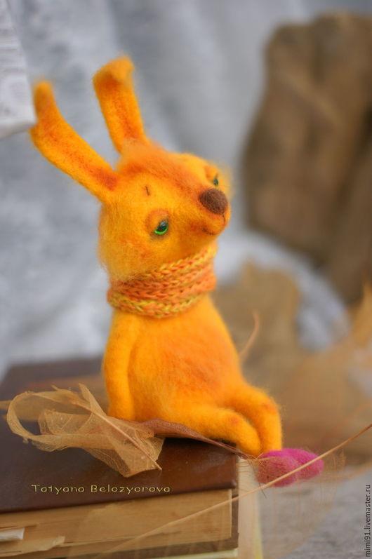 Игрушки животные, ручной работы. Ярмарка Мастеров - ручная работа. Купить Солнечный зайчик. Handmade. Желтый, сказка
