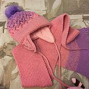 Шапка ручной работы. Ярмарка Мастеров - ручная работа Детская шапка и шарф. Handmade.