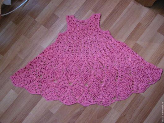 Одежда для девочек, ручной работы. Ярмарка Мастеров - ручная работа. Купить Платье вязанное детское. Handmade. Однотонный, платье для девочки